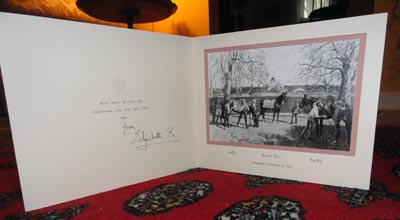 this 1975 card is the last of the queen mothers christmas cards